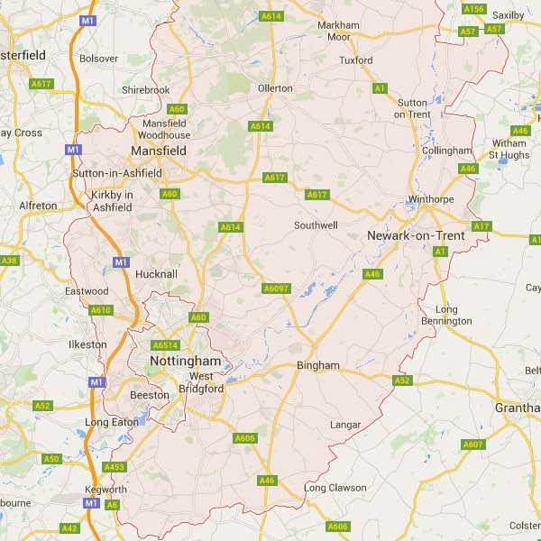 Areas For Locksmiths in Nottingham